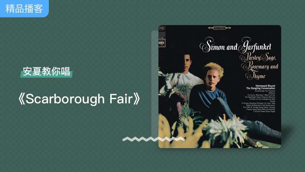 安夏老师教唱经典英文歌《Scarborough Fair》,旋律优美🎼