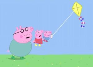 💡 秋高气爽!快来和小猪佩奇一家,一起放风筝吧~