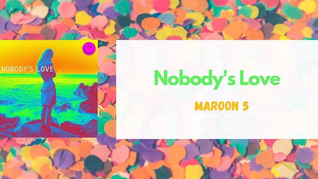 魔力红Maroon5 回归新单《Nobody's Love》,惊喜发布