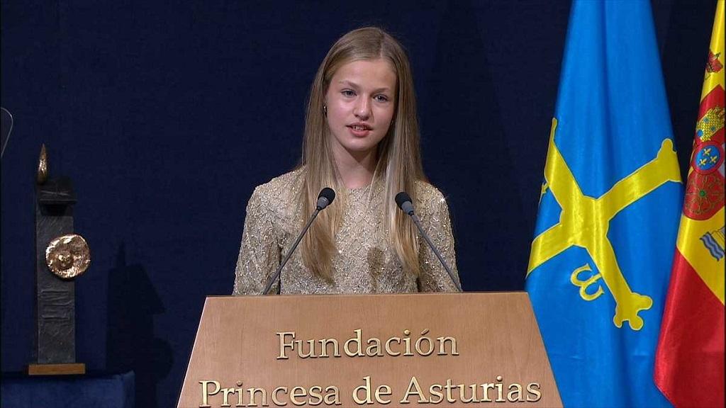 王室有女初长成,莱昂诺尔公主最新演讲