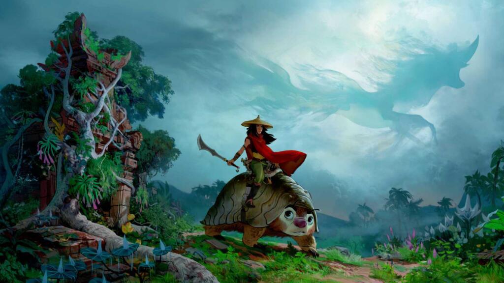 迪士尼新动画《寻龙使者:拉雅》首曝预告,法语版看起~