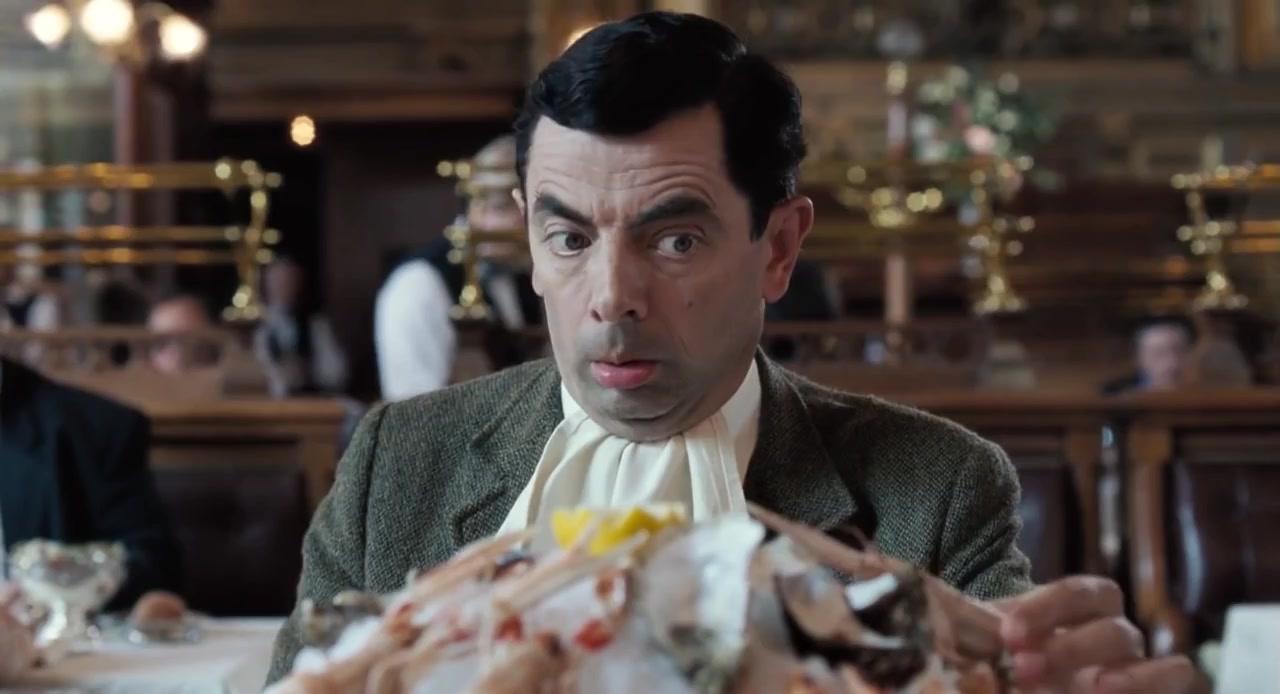 憨豆先生去了巴黎餐厅,点了海鲜拼盘大餐……