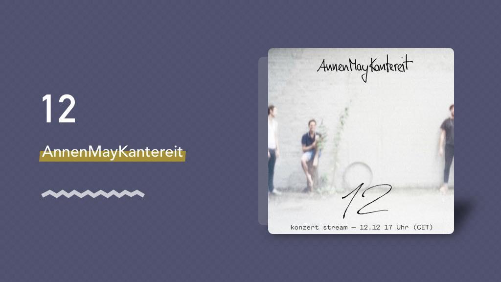 AnnenMayKantereit 最新专辑《12》,一口气听完 ~